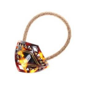 【チャイハネ】ダイヤ型透かし模様カフヘアゴム ブラウン