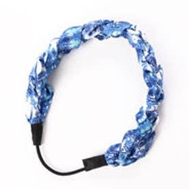【チャイハネ】ブルーヘアバンド カチューム ホワイト×ブルー