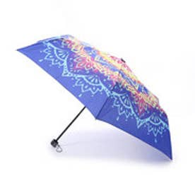 【チャイハネ】曼荼羅柄 折りたたみ傘 ブルー