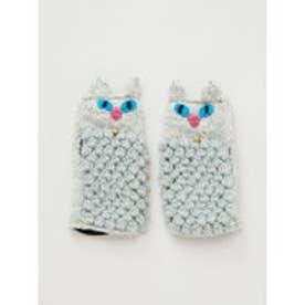 【チャイハネ】ニャングローブ もこもこ猫手袋 ホワイト