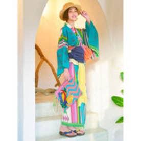 【チャイハネ】メキシカンセパレート浴衣 グリーン