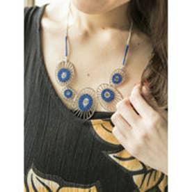 【チャイハネ】蓮の葉ネックレス ブルー