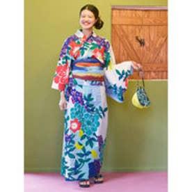 【チャイハネ】三角草セパレート浴衣 ホワイト