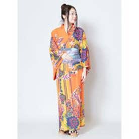 【チャイハネ】キラーリセパレート浴衣 オレンジ