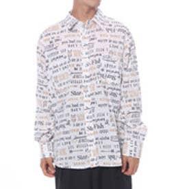 チャイハネ チャイハネ レタードMEN'Sシャツ (ホワイト)