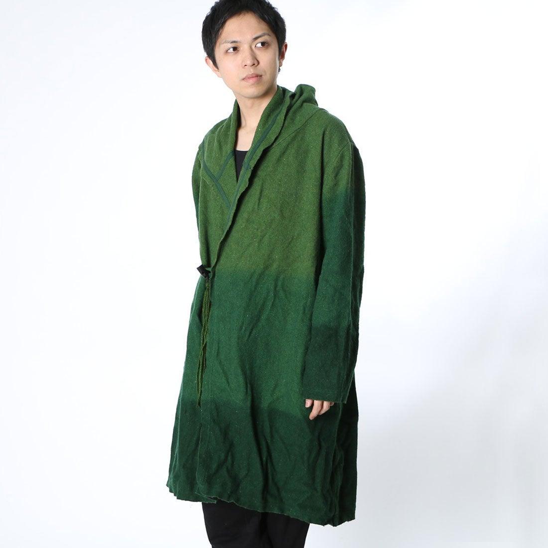 ◆【チャイハネ】ディップグラデーションダイMEN'Sコートカーキ