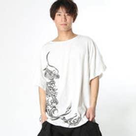【チャイハネ】ドラゴンプリントMEN'S Tシャツ ホワイト