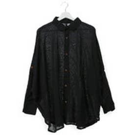 【チャイハネ】yul ネパールコットンドルマンスリーブシャツ ブラック