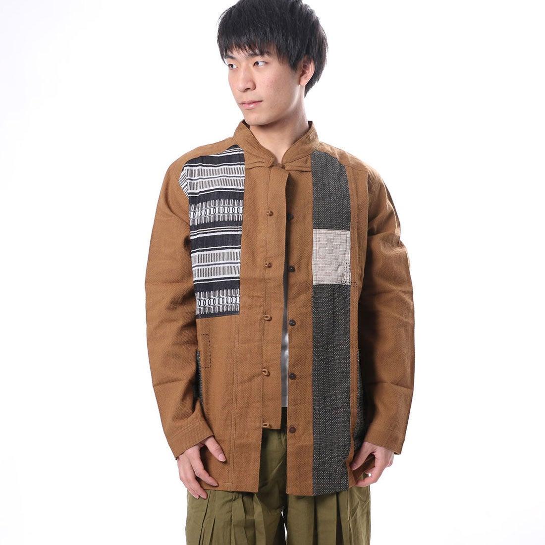 【チャイハネ】ラールーンMEN'Sジャケット / チャイナシャツ キャメル