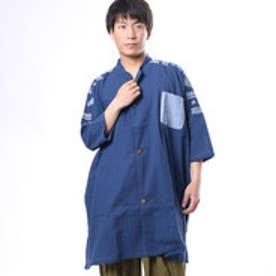 【チャイハネ】ペイズリーMEN'Sシャツ ライトインディゴブルー