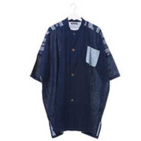 【チャイハネ】ペイズリーMEN'Sシャツ ダークインディゴブルー