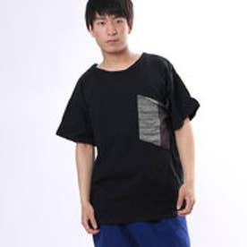 【チャイハネ】ビッグポケットMEN'S Tシャツ ブラック