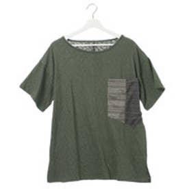 【チャイハネ】ビッグポケットMEN'S Tシャツ カーキ