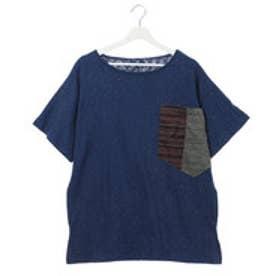 【チャイハネ】ビッグポケットMEN'S Tシャツ ネイビー