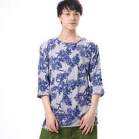 【チャイハネ】ボタニカル柄メンズTシャツ グレー