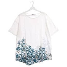 【チャイハネ】トルコ・キリム柄メンズTシャツ ホワイト