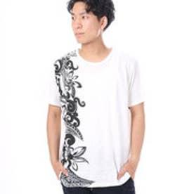 【チャイハネ】フラワートライバル MEN'S Tシャツ ホワイト