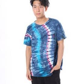 【チャイハネ】ウエーブタイダイMEN'SポケットTシャツ ブルー