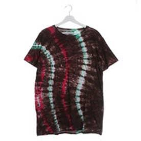 【チャイハネ】ウエーブタイダイMEN'SポケットTシャツ ブラウン