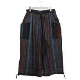 【チャイハネ】yul 南インド綿ドビー織りMEN'Sパンツ ネイビー