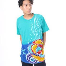【チャイハネ】シーバティックメンズTシャツ ブルー