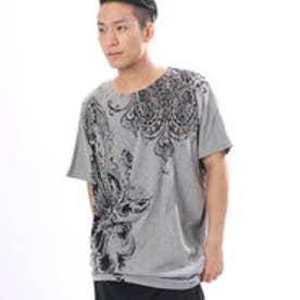 【チャイハネ】ガネーシャMEN'S Tシャツ トップグレー