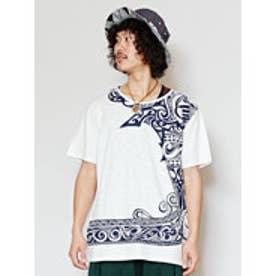【チャイハネ】ズニトライバルメンズTシャツXL ホワイト