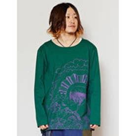 【チャイハネ】HEMP&COTTON ネイチャーメンズTシャツ グリーン