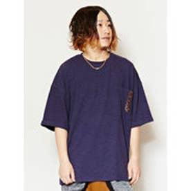 【チャイハネ】刺繍入りMEN'SポケットTシャツ ネイビー