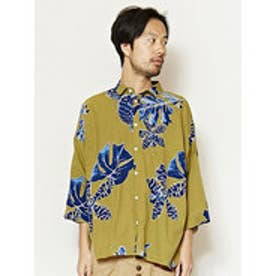 【チャイハネ】エスニックプリントMEN'Sシャツ グリーン