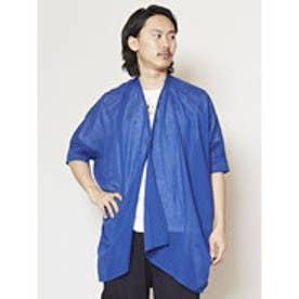 【チャイハネ】フェザープリントカーディガン(ユニセックス) ブルー