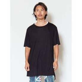 【チャイハネ】無地ストリングメンズTシャツ ブラック