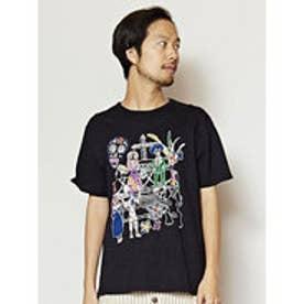 【チャイハネ】メキシカンスカルメンズTシャツ ブラック