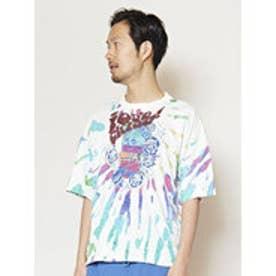 【チャイハネ】カラフルプリントメンズTシャツ ブルー