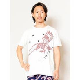 【チャイハネ】イーグル刺繍メンズTシャツ ホワイト