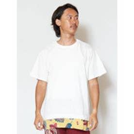 【チャイハネ】フェイクレイヤードメンズTシャツ ホワイト