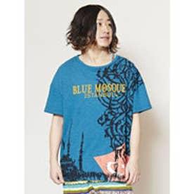 【チャイハネ】ワールドグラフィックメンズTシャツ ブルー