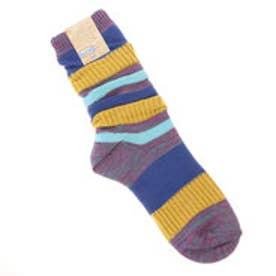 【チャイハネ】ボーダールーズソックス 靴下24cm ブルー
