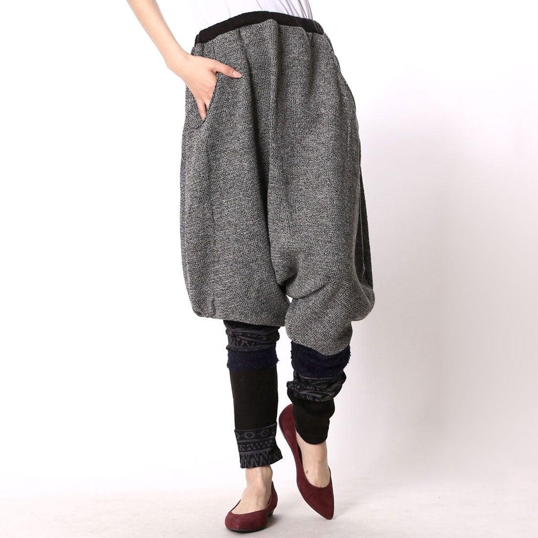 【チャイハネ】yul バルーンシルエット変形パンツ ブラック