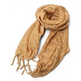 【チャイハネ】インド綿100% カティンストール(ユニセックス) ベージュ
