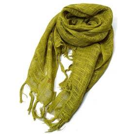 【チャイハネ】インド綿100% カティンストール(ユニセックス) オリーブ
