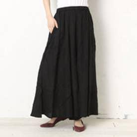 【チャイハネ】yul シンプルワイドパンツ / スカンツ スカーチョ ブラック