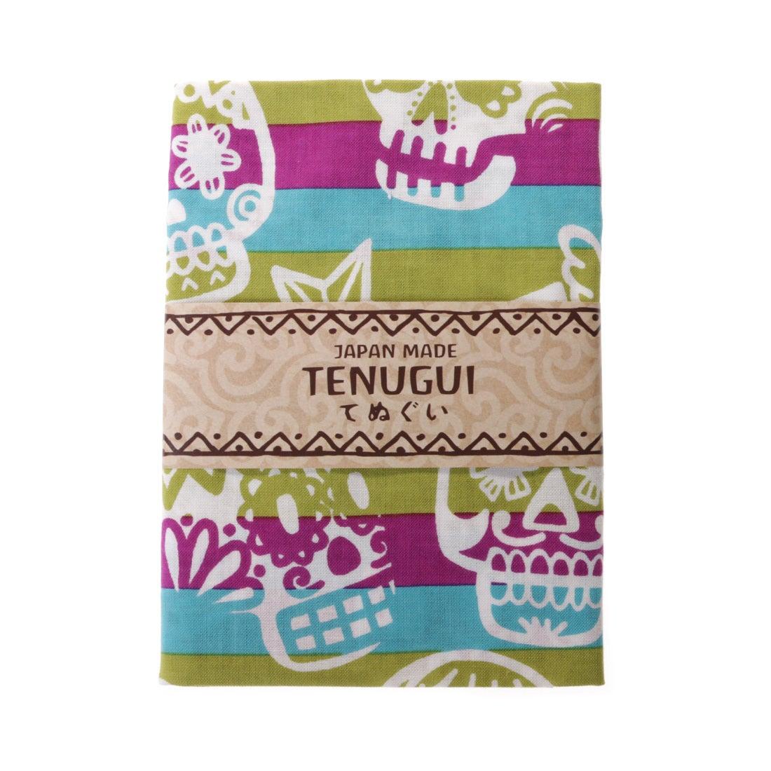 【チャイハネ】JAPAN MADE カラベラ捺染手ぬぐい パープル