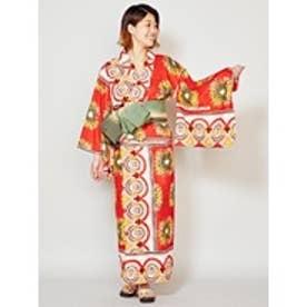 【チャイハネ】アフリカン★セパレート浴衣 レッド