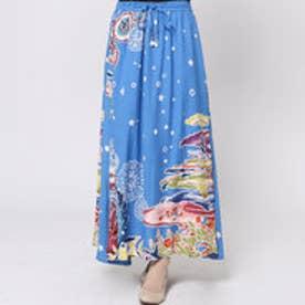 【チャイハネ】ユートピアロングスカート ブルー