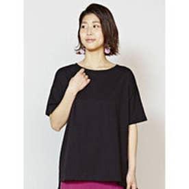 【チャイハネ】yul 無地スラブプレーンTシャツ ブラック