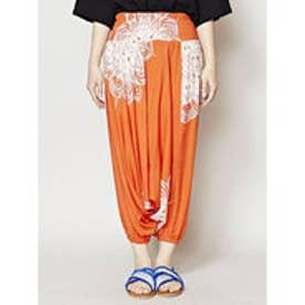 【チャイハネ】yul 曼荼羅模様サルエルパンツ ベアサロペット 2WAY オレンジ