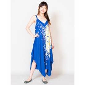 【チャイハネ】yul 曼荼羅模様サロペット キャミワンピース 2WAY ブルー