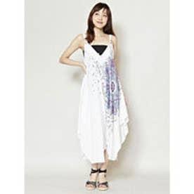 【チャイハネ】yul 曼荼羅模様サロペット キャミワンピース 2WAY ホワイト