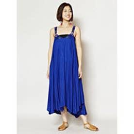 【チャイハネ】yul アフリカンビーズ刺繍ノースリーブワンピース ブルー